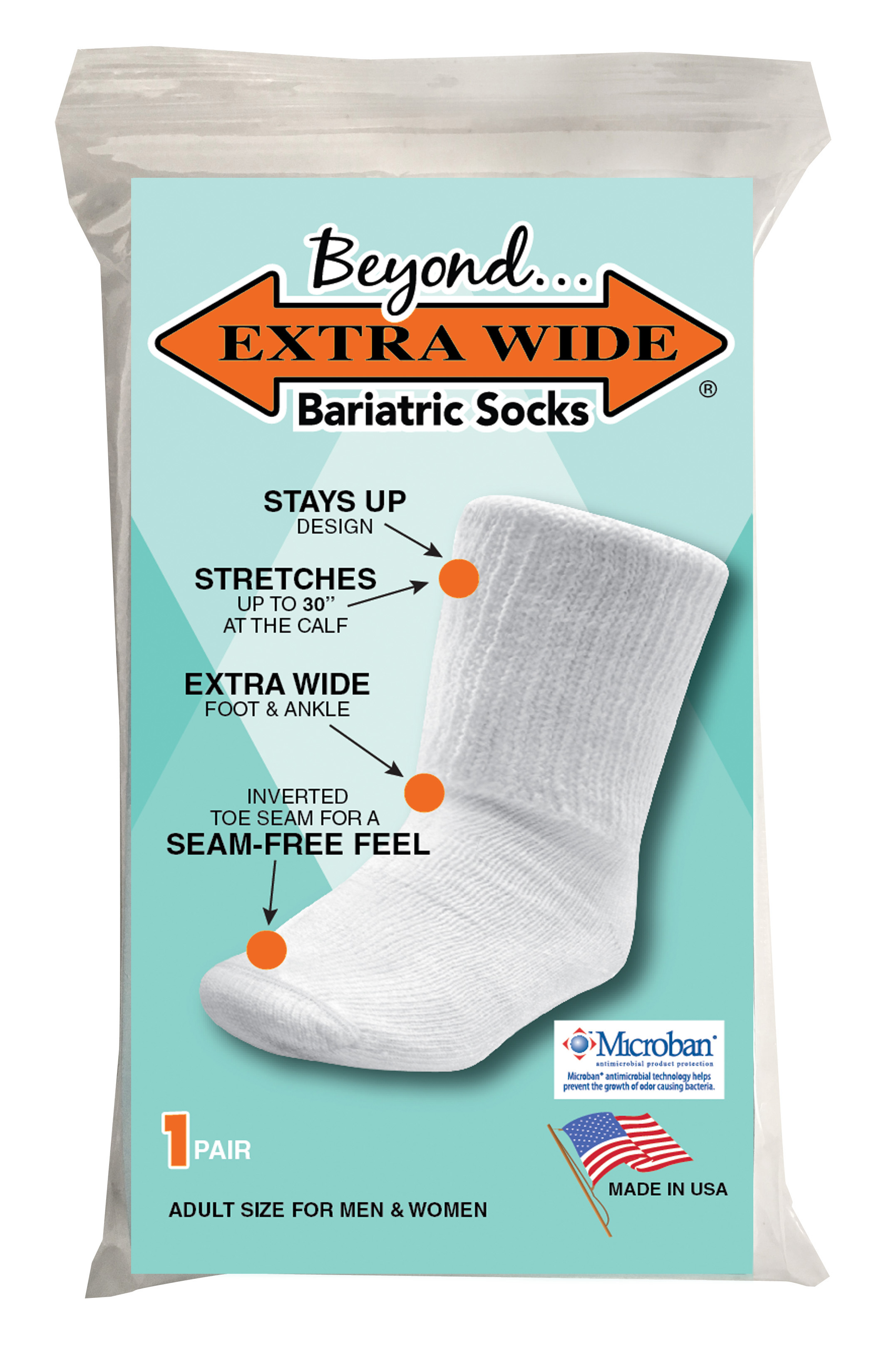 Beyond Bariatric Sock by Extra Wide Sock