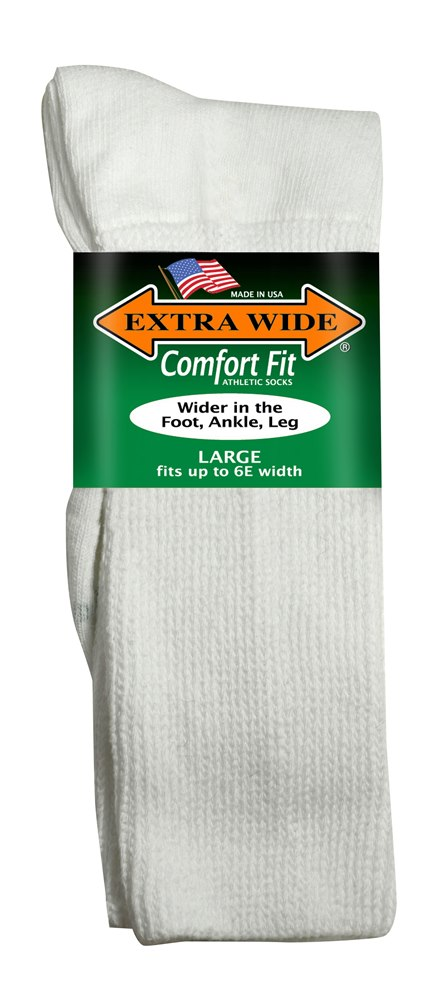 A-Extra Wide Athletic Crew Socks (1 pr.)
