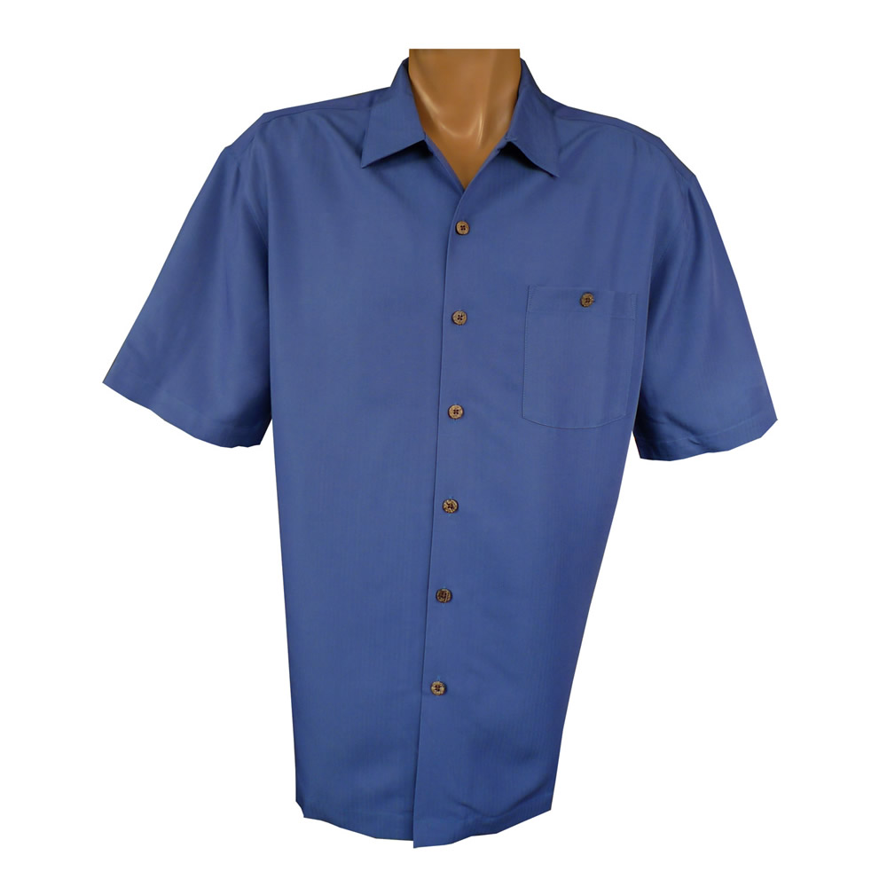 """Indigo Smith"" Short Sleeve Sportshirt - Navy"