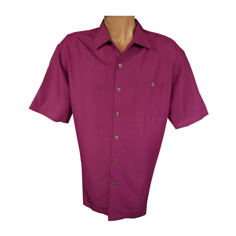 """Indigo Smith"" Short Sleeve Sportshirt - Burgundy"