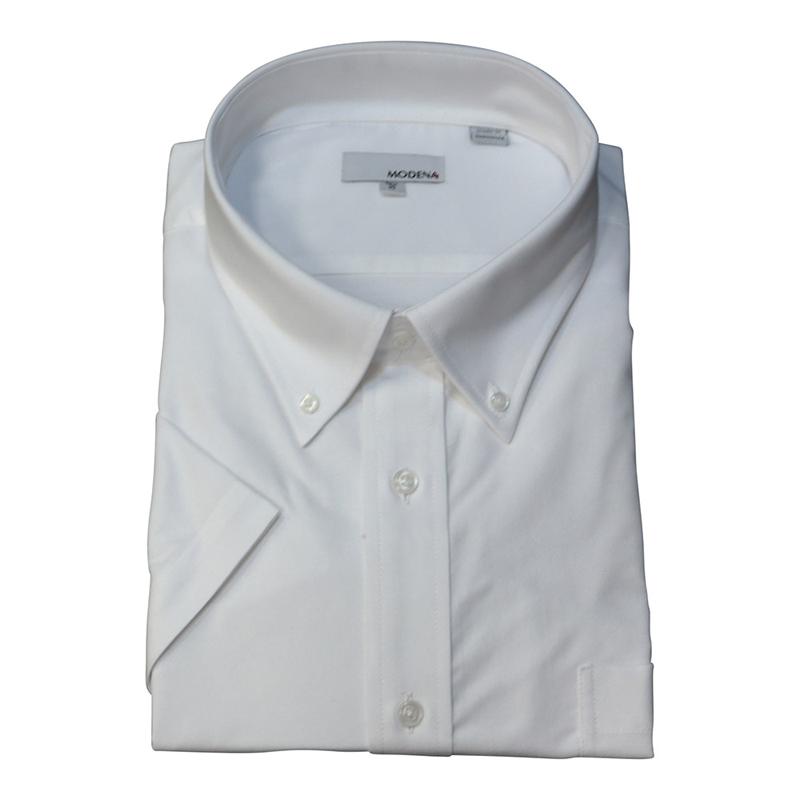 Solid Short White Sleeve B.D. dress shirt - Jay & Leonard (Modena)