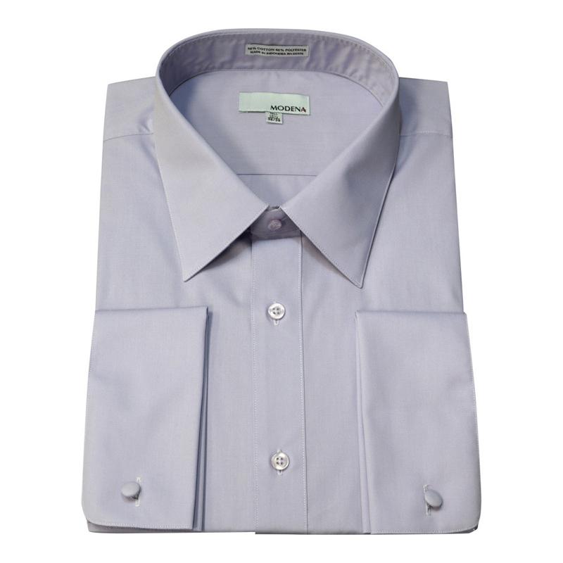 Martin 39 s big and tall dress shirts modena french for Purple french cuff dress shirt