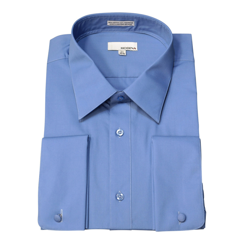 Martin 39 s big and tall dress shirts modena french for Can you wear cufflinks on a regular shirt