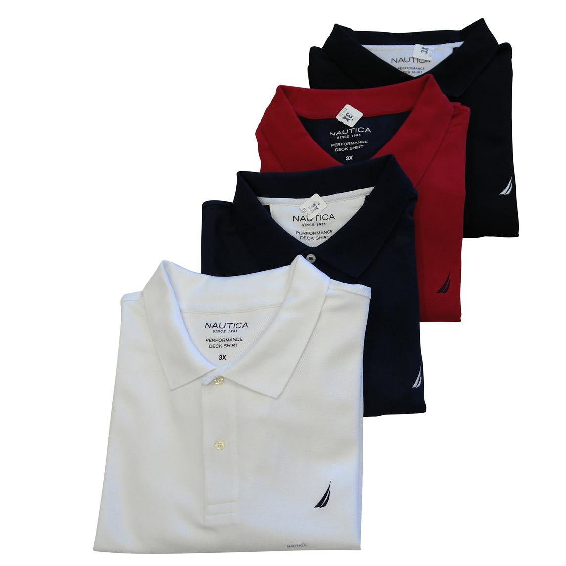 Martins Big And Tall Casual Wear Nautica Basic Short Sleeve Polo