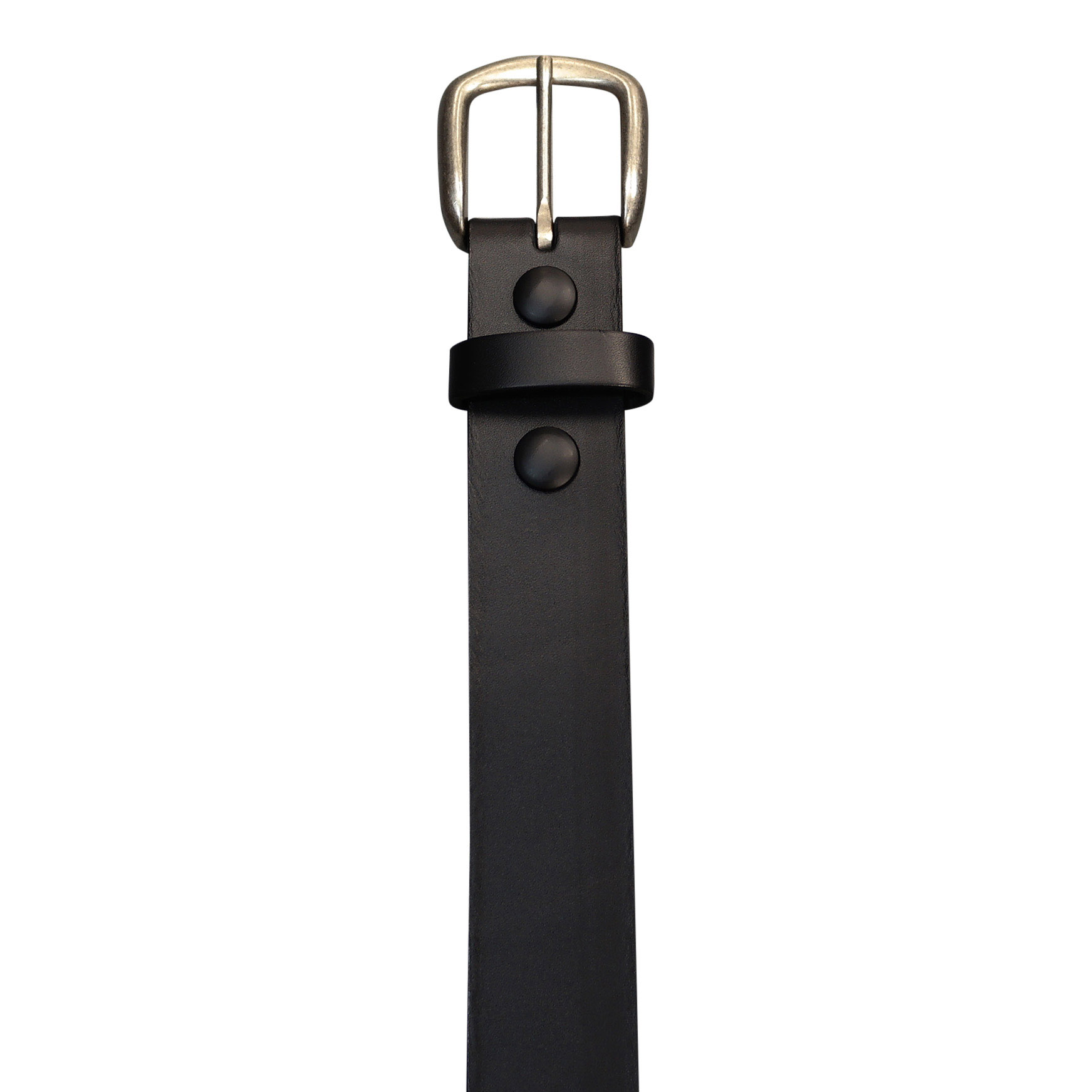 Casual black leather belt
