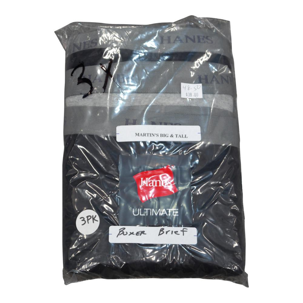 Hanes Boxer Brief (2-Black/1-Grey)
