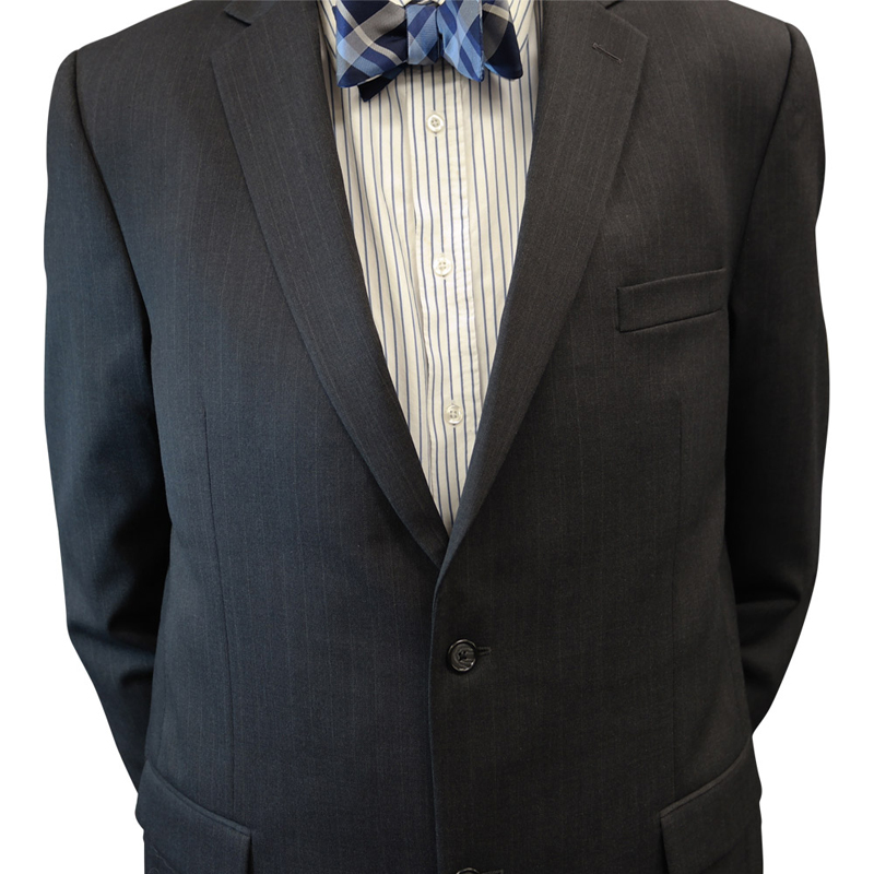Petrocelli Charcoal Pinstripe Suit Separate Jacket
