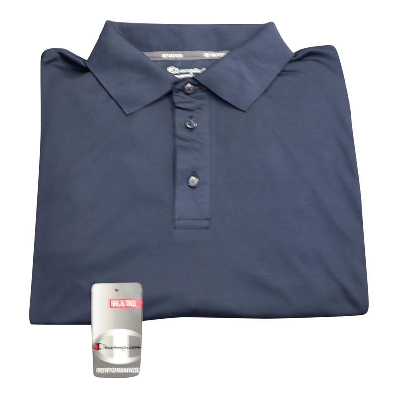"Champion Dri-Power ""Vapor"" Navy Polo"