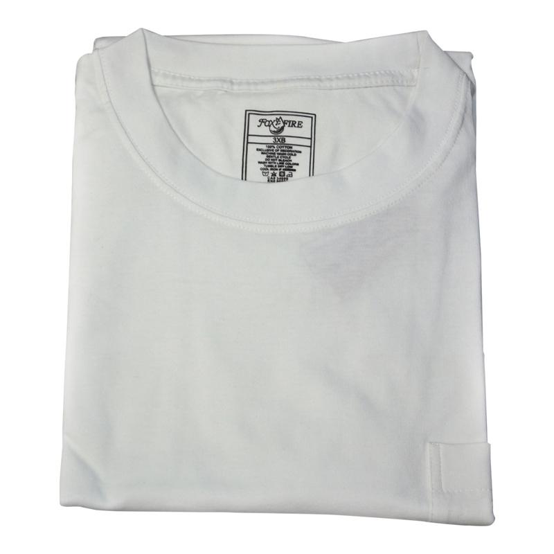 Foxfire/Falcon Bay White Pocket Tee Shirt