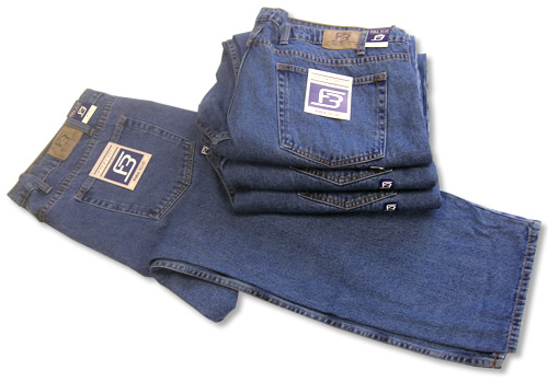NEW! Full Blue Basic 5-pocket Jean