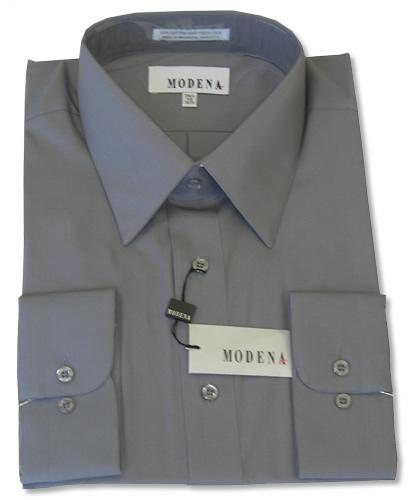 Modena Dress Shirt / CHARCOAL