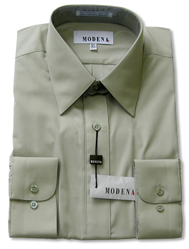 Modena Dress Shirt / SAGE/ Celery