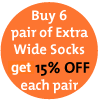 Extra Wide 1/4 length Medical Sock - King