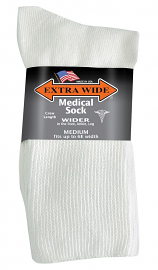 Extra Wide Qtr. Medical Sock - Regular (1 pr)