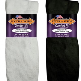 C-Extra Wide Athletic Crew Sock - Size 16-21 Shoe Size (1 pr.)