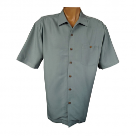 """Indigo Smith"" Short Sleeve Sportshirt - Slate"