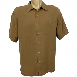 """Indigo Smith"" Short Sleeve Sportshirt - Whiskey"