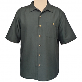 """Indigo Smith"" Short Sleeve Sportshirt - Black"