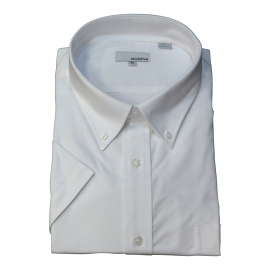 Solid Short White Sleeve B.D. dress shirt - Jay & Leonard (Modena)