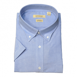 Solid Short Light Blue Sleeve B.D. dress shirt - Jay & Leonard (Modena)
