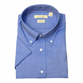 Solid Short French Blue Sleeve B.D. Dress Shirt - Jay & Leonard (Modena)