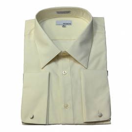 Modena French Cuff Ivory Dress Shirt