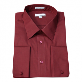 Modena French Cuff Burgundy Dress Shirt