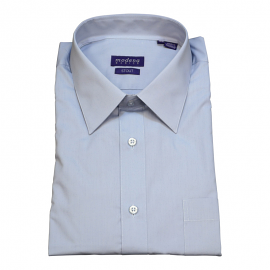 Modena Extra Full Body Long Sleeve Light Blue Dress Shirts