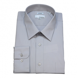 Modena Extra Full Body Long Sleeve Silver Dress Shirts