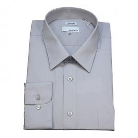 Modena Extra Full Body Long Sleeve Silver Dress Shirts