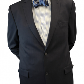Petrocelli Navy Pinstripe Suit Separate Jacket