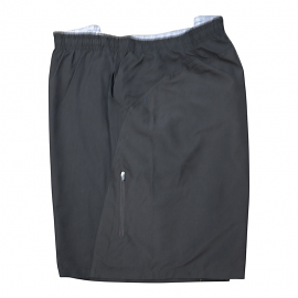 Solid Black Microfiber Swimtrunk