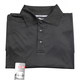 "Champion  Dri-Power ""Vapor"" Black Polo"