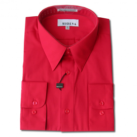 Modena Dress Shirt / RED