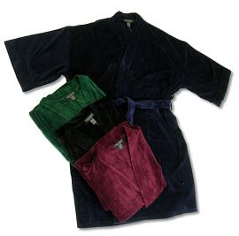 New Cotton Terry Velour Robe