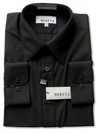 Modena Dress Shirt / BLACK