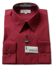 Modena Dress Shirt / BURGUNDY